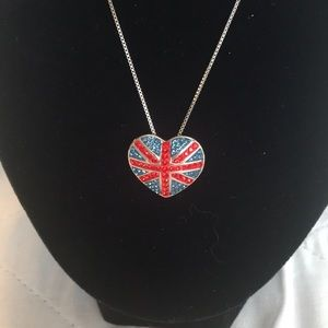 Jewelry - 💙❤️Sterling Silver British Flag Pendant Necklace